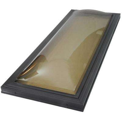 14-1/2 in. x 30-1/2 in. Miami-Dade Impact Fixed Curb Mount Polycarbonate Skylight