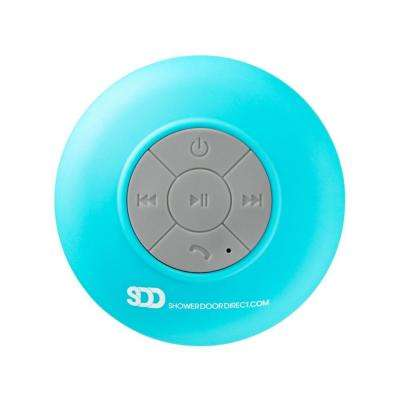 Waterproof Bluetooth Shower Speaker with Suction Cup in Blue