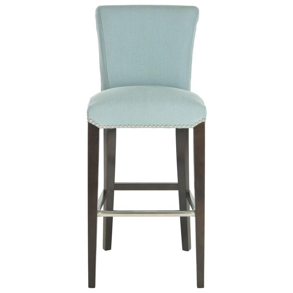 Swell Safavieh Seth 29 3 In Sky Blue Cushioned Bar Stool Mcr4510H Lamtechconsult Wood Chair Design Ideas Lamtechconsultcom