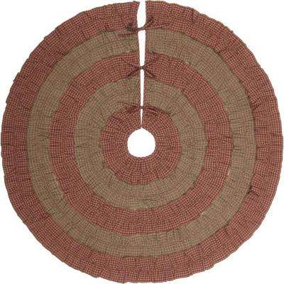 48 in. Sequoia Burgundy Red Rustic Christmas Decor Tree Skirt