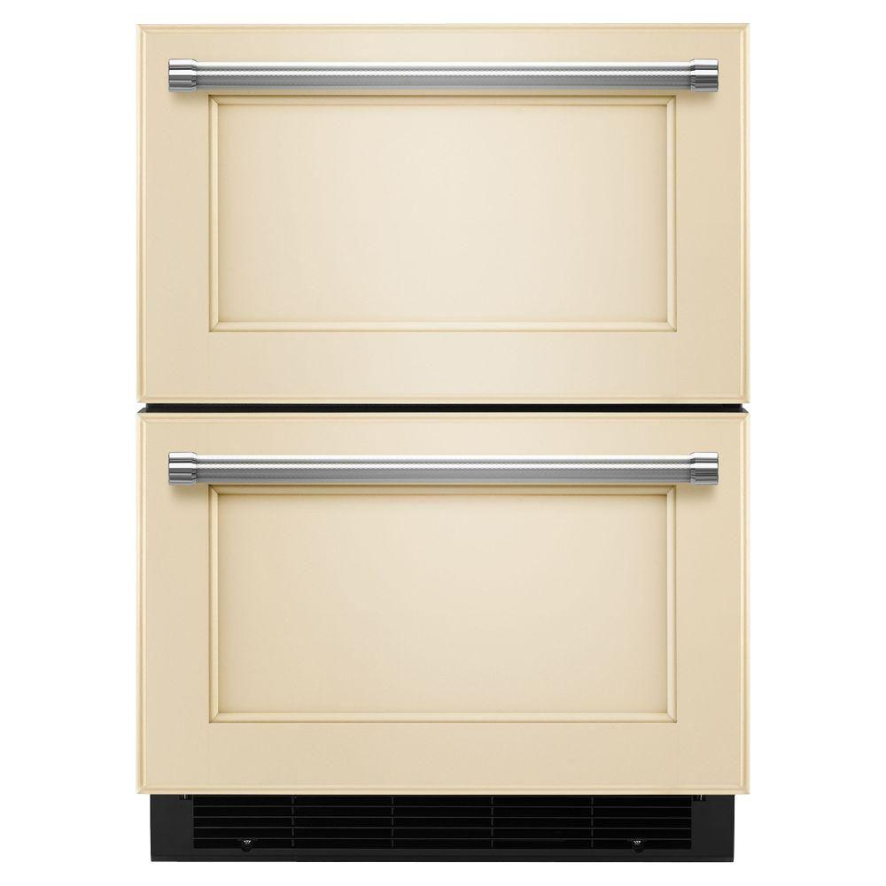 4.7 cu. ft. Double Drawer Freezerless Refrigerator in Overlay Panel-Ready,