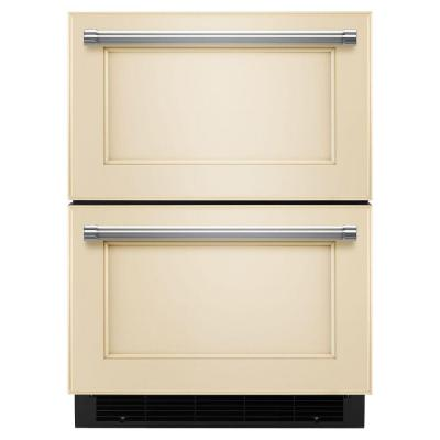 4.7 cu. ft. Double Drawer Freezerless Refrigerator in Overlay Panel-Ready, Counter Depth