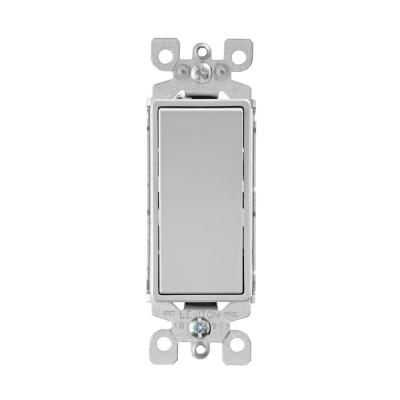 Decora 15 Amp 3-Way Rocker Switch, Light Gray