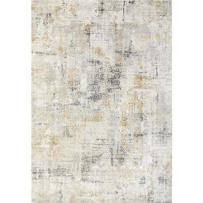Quartz Ivory/Slate 9 ft. x 12 ft. 10 in. Transitional Polyester Area Rug