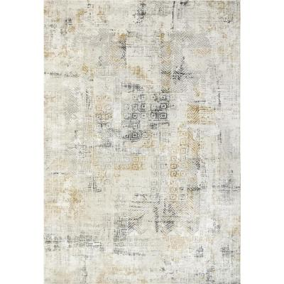 Quartz Ivory/Slate 2 ft. x 3 ft. 11 in. Transitional Polyester Area Rug
