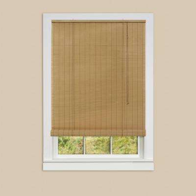 Eclipse Woodstone Roll-Up 0.25 in. Vinyl Blind - 30 in. W x 72 in. L