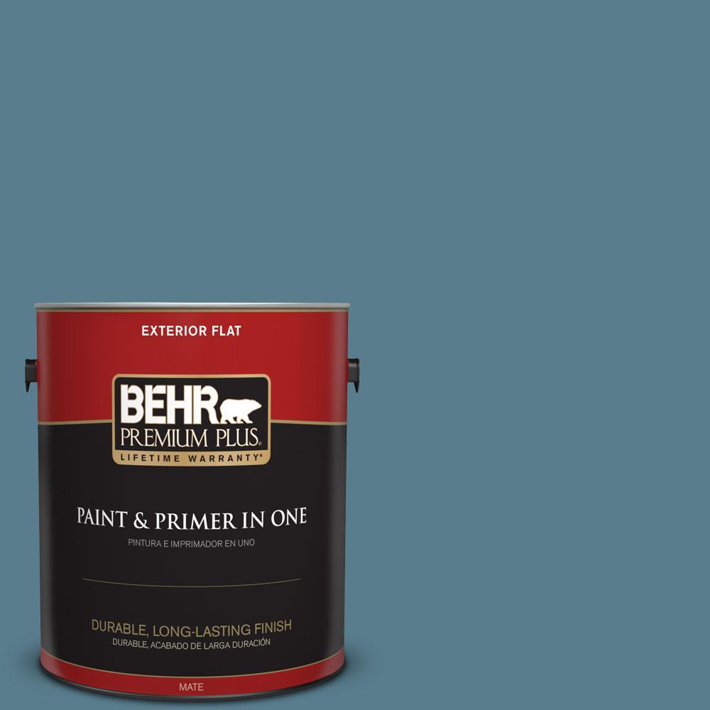 1 gal. #HDC-FL14-11 Cotton Denim Flat Exterior Paint