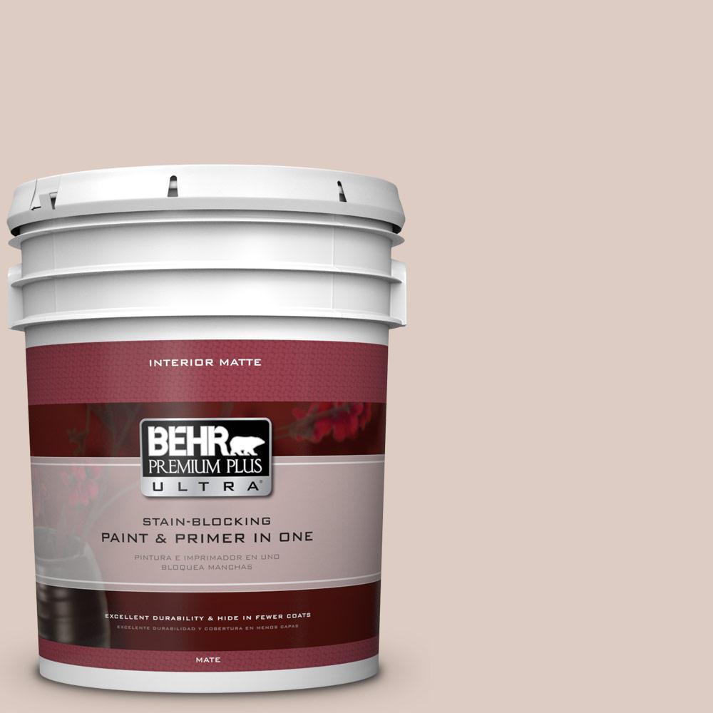 BEHR Premium Plus Ultra 5 gal. #N190-2 Stonewashed Brown Matte Interior Paint