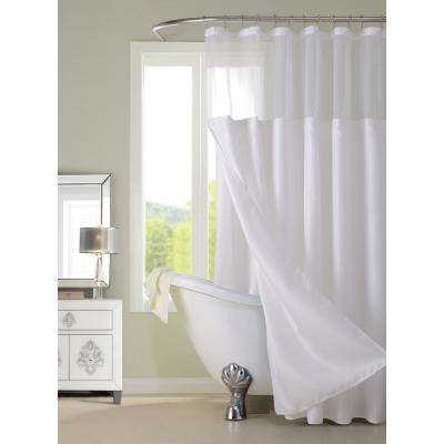 Complete 72 in. White Shower Curtain