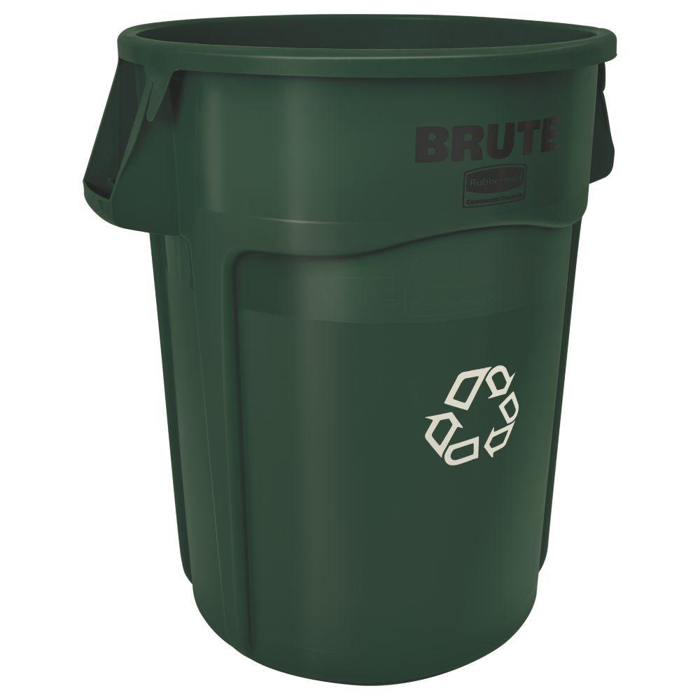 Brute 44 Gal. Dark Green Recycling Container