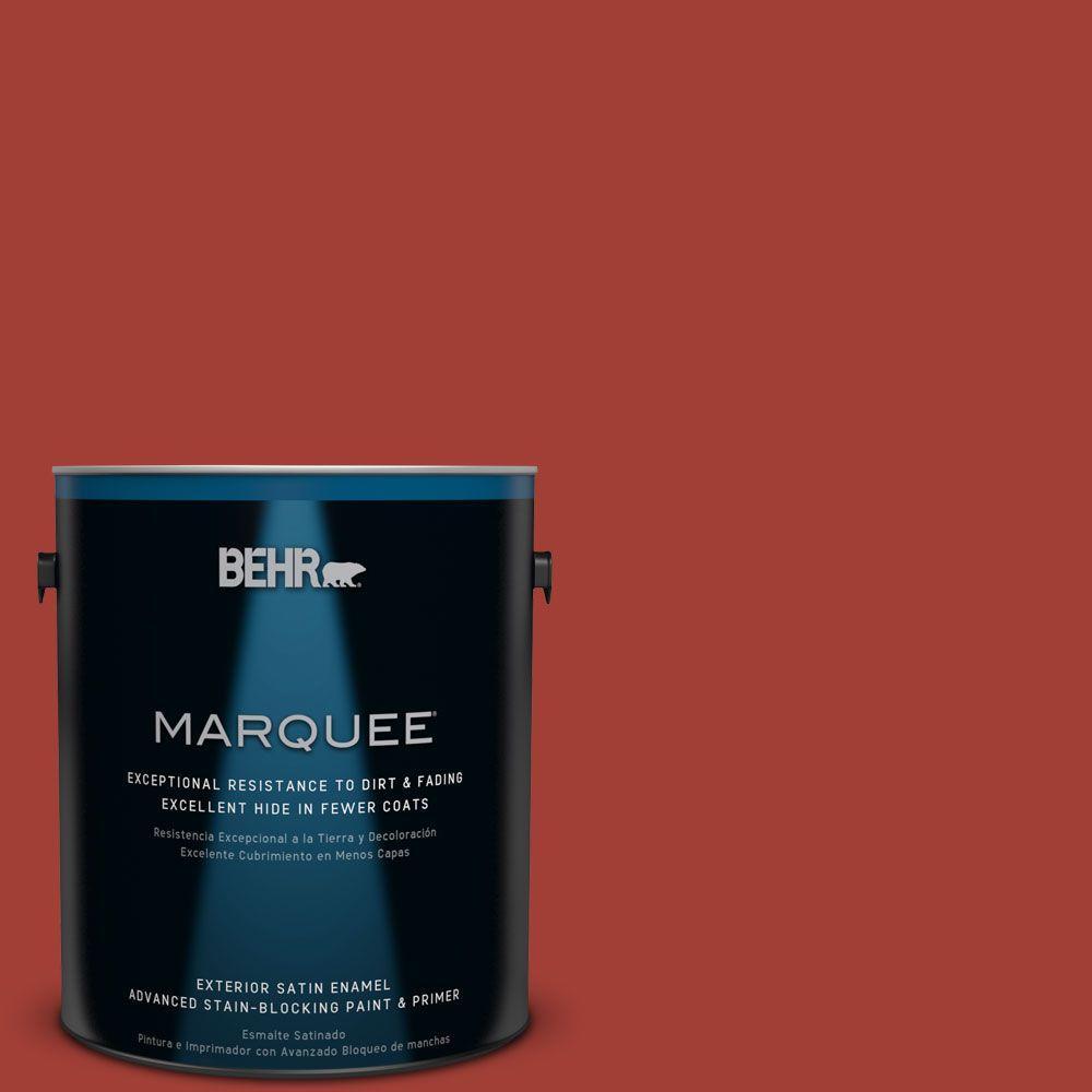 1 gal. #HDC-SM16-12 Tomato Slices Satin Enamel Exterior Paint