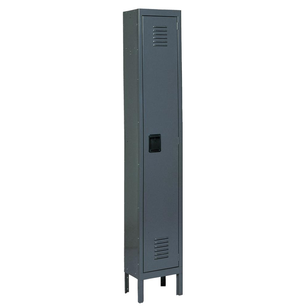 Edsal Citadel 12 in. W x 18 in. D x 72 in. H Steel Single Tier Lockers in Gray