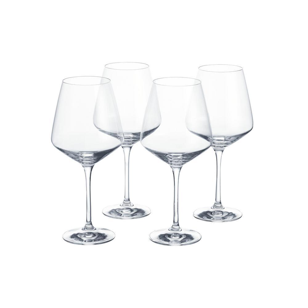 Genoa 26.5 oz. Lead-Free Crystal Red Wine Glasses (Set of 4)