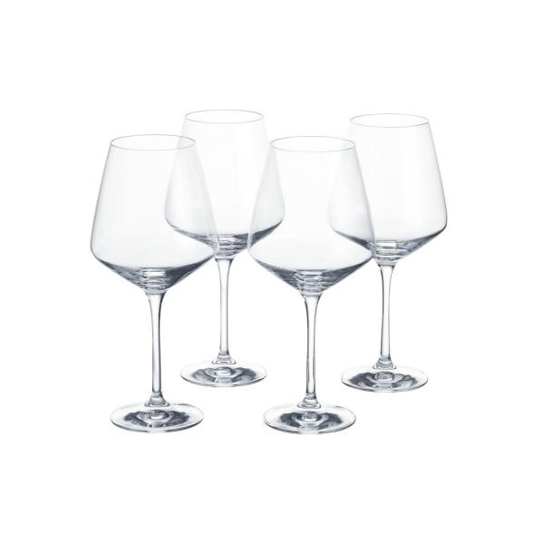 Home Decorators Collection Genoa 26 5 Fl Oz Lead Free Crystal Red Wine Glasses Set Of 4 253510 The Home Depot
