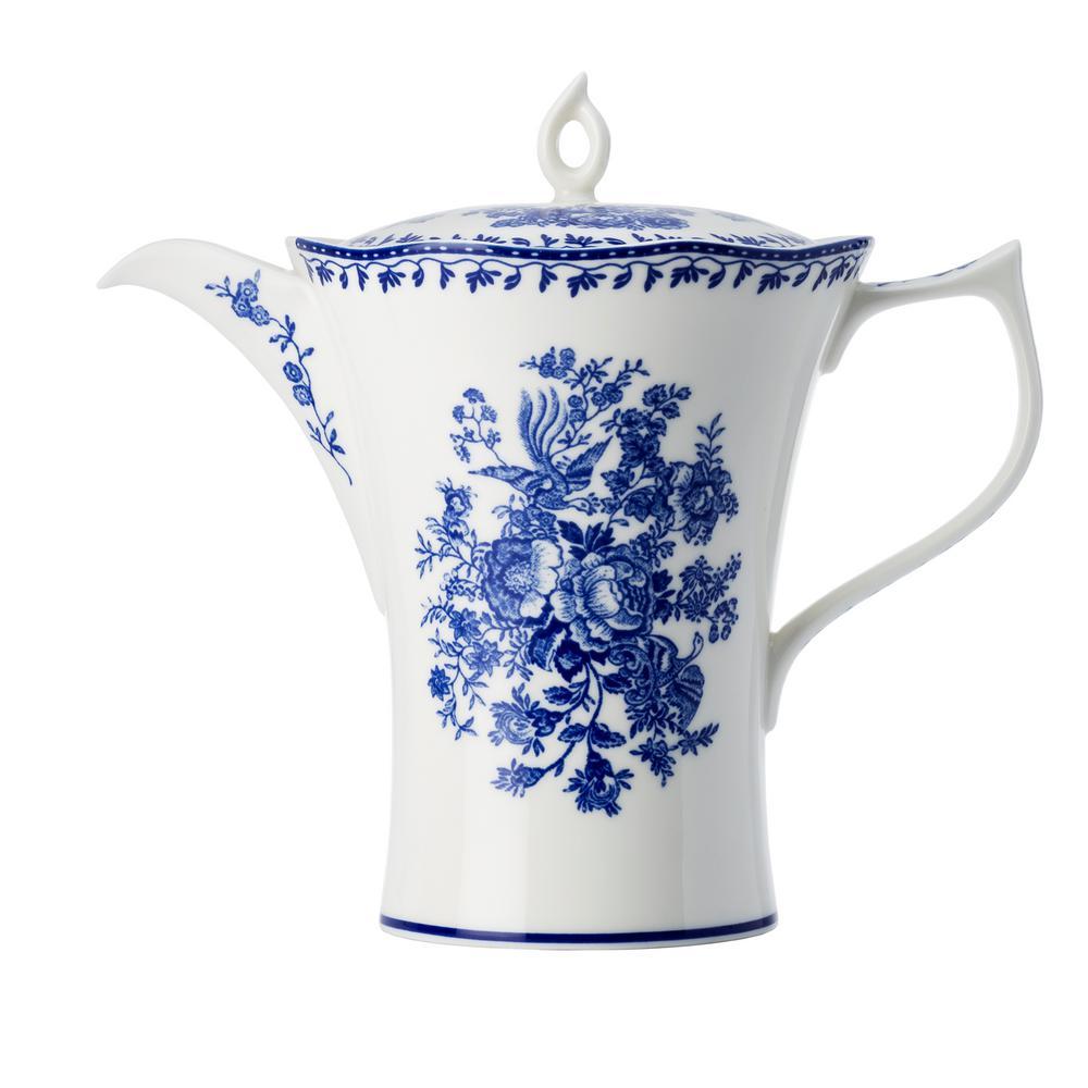 26 oz. Blue Porcelain Blue Tea Pots with Lid (Set of 12)