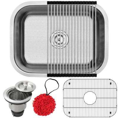 Foster Undermount 18-Gauge Stainless Steel 23 in. Single Bowl Kitchen Sink with Accessory Kit