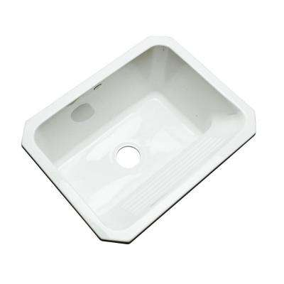 Kensington Undermount Acrylic 25 in. Single Bowl Utility Sink in White