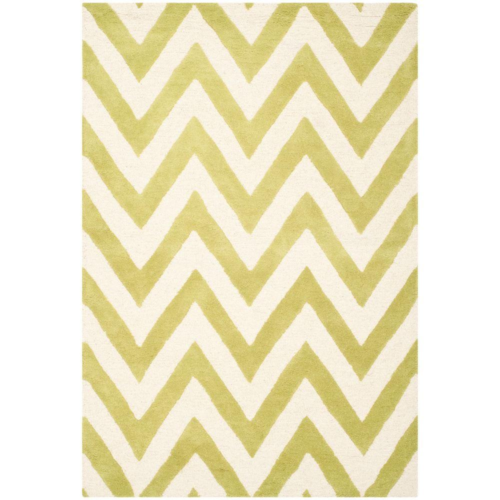 Cambridge Green/Ivory 4 ft. x 6 ft. Area Rug