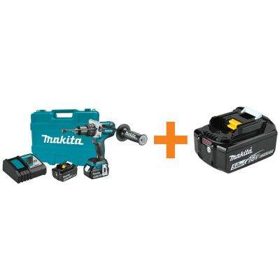 18-Volt LXT Lithium-Ion 1/2 in. Brushless Cordless Hammer Drill Kit 5.0Ah with Bonus 18-Volt LXT Battery Pack 5.0Ah
