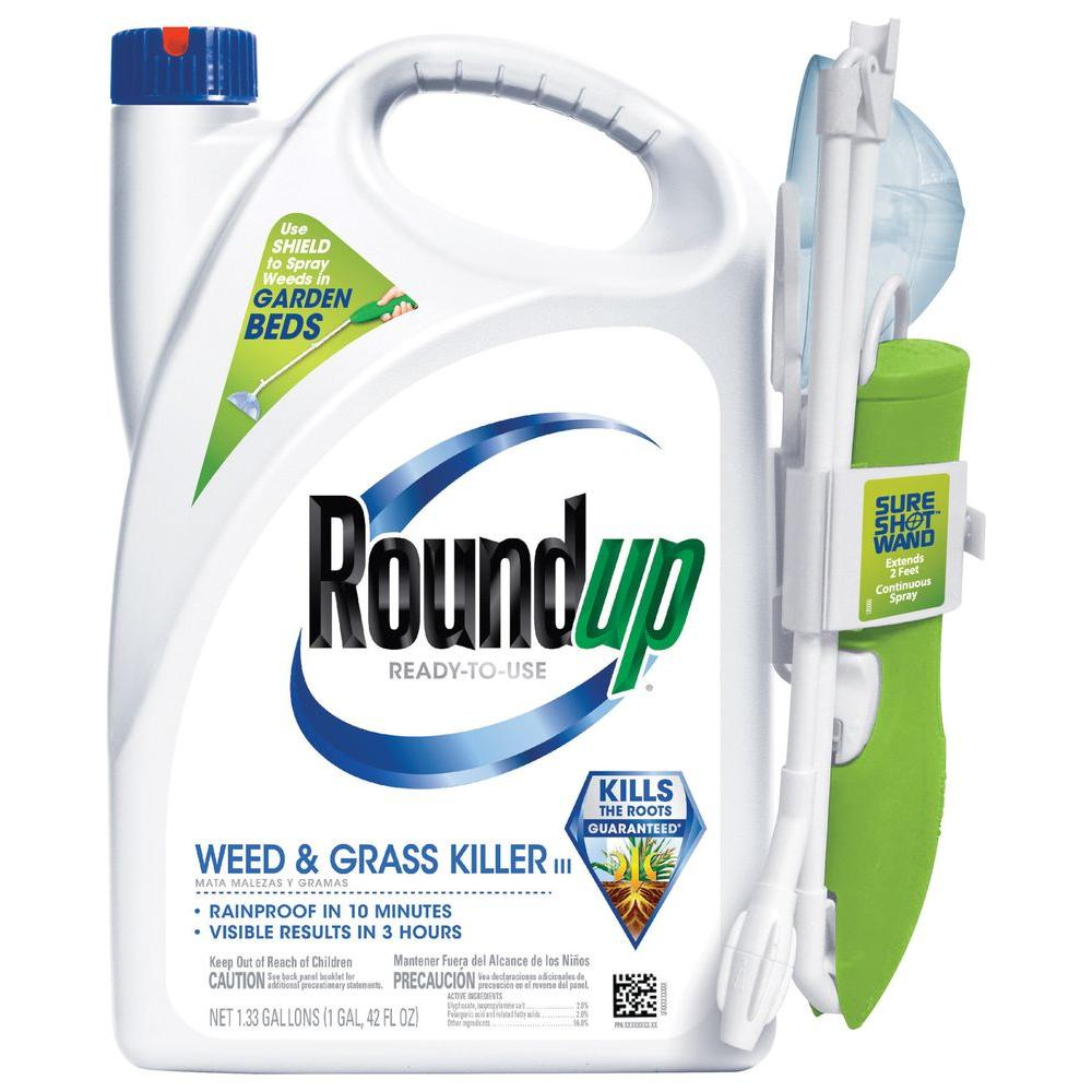roundup ready to use weed and grass killer with sure shot wand 520051010 the home depot. Black Bedroom Furniture Sets. Home Design Ideas