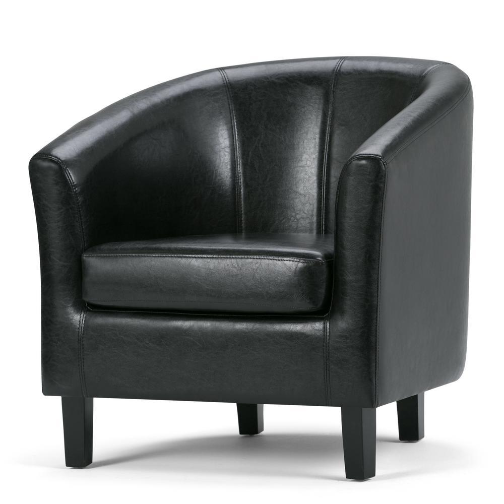 Austin Espresso Faux Leather Arm Chair