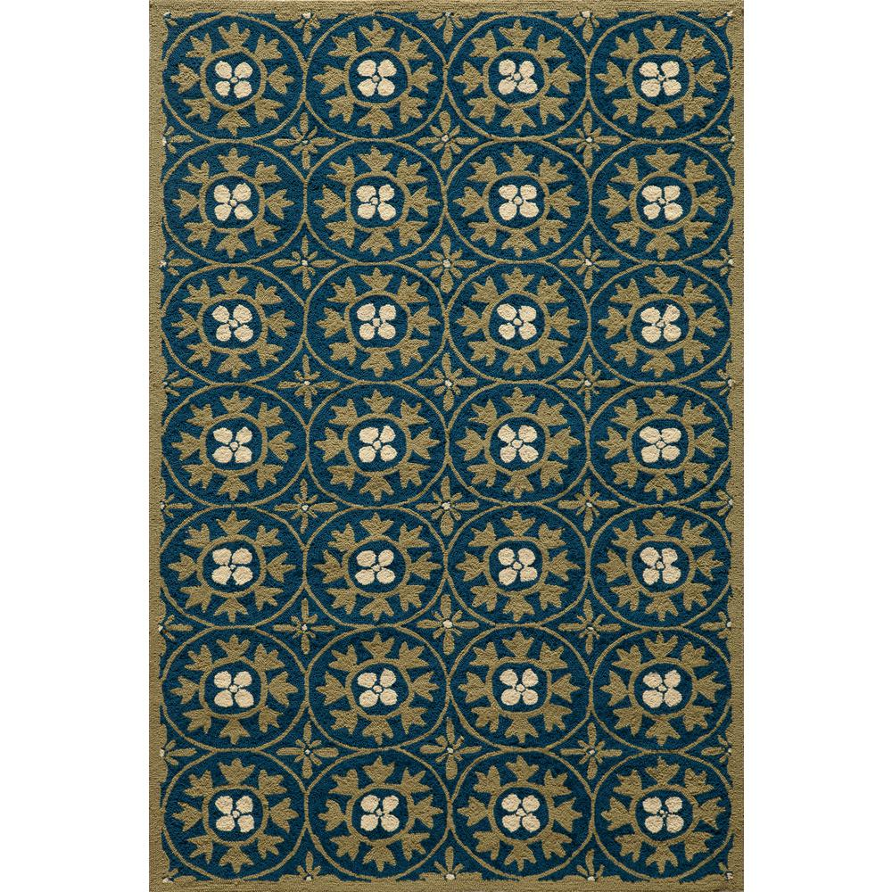 Momeni Veranda Blue 8 Ft X 10 Indoor Area Rug