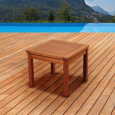 Murano Eucalyptus Square Patio Side Table