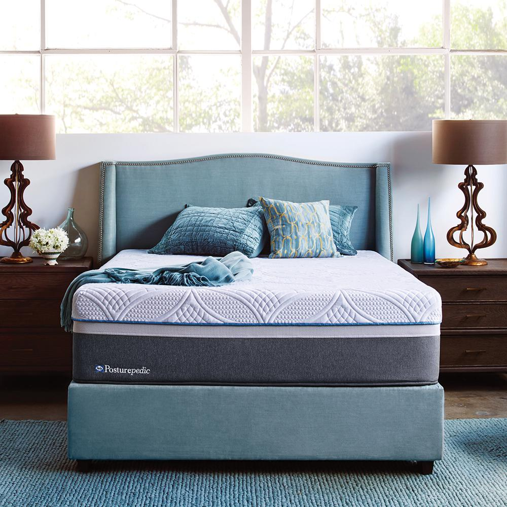 sealy hybrid firm queen size mattress 51406451 the home depot. Black Bedroom Furniture Sets. Home Design Ideas