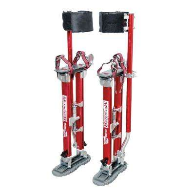 Buildman Grade 24 in. to 40 in. Adjustable Height Red Drywall Stilts