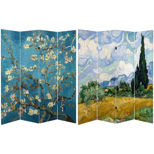 Oriental Furniture 6 ft. Printed 4-Panel Room Divider CAN-VANG4AB