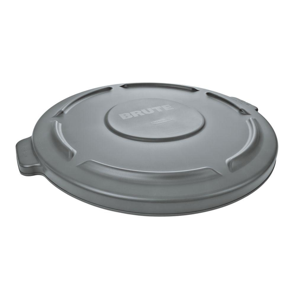 ec1b0823 Rubbermaid Commercial Products Brute 32 Gal. Gray Round Vented Trash Can Lid