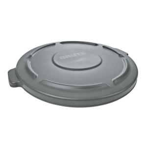 Rubbermaid Commercial Products Brute 32 Gal. Grey Round Vented Trash Can Lid by Rubbermaid Commercial Products