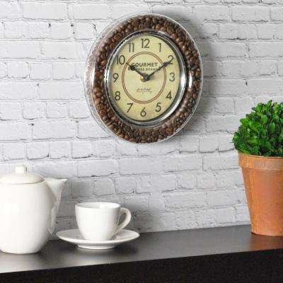 7.5 in. Round Gourmet Cafe Wall Clock