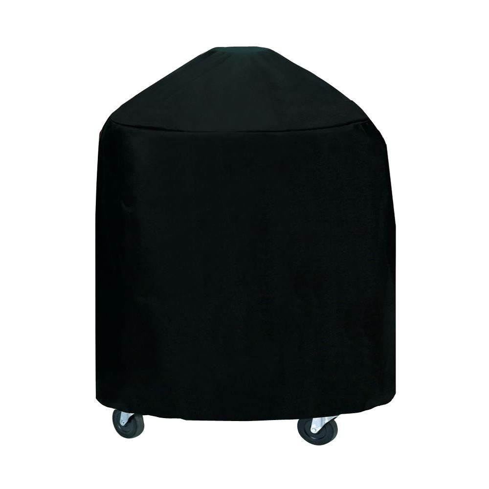 33 in. XLarge Round Grill/Smoker Cover in Black