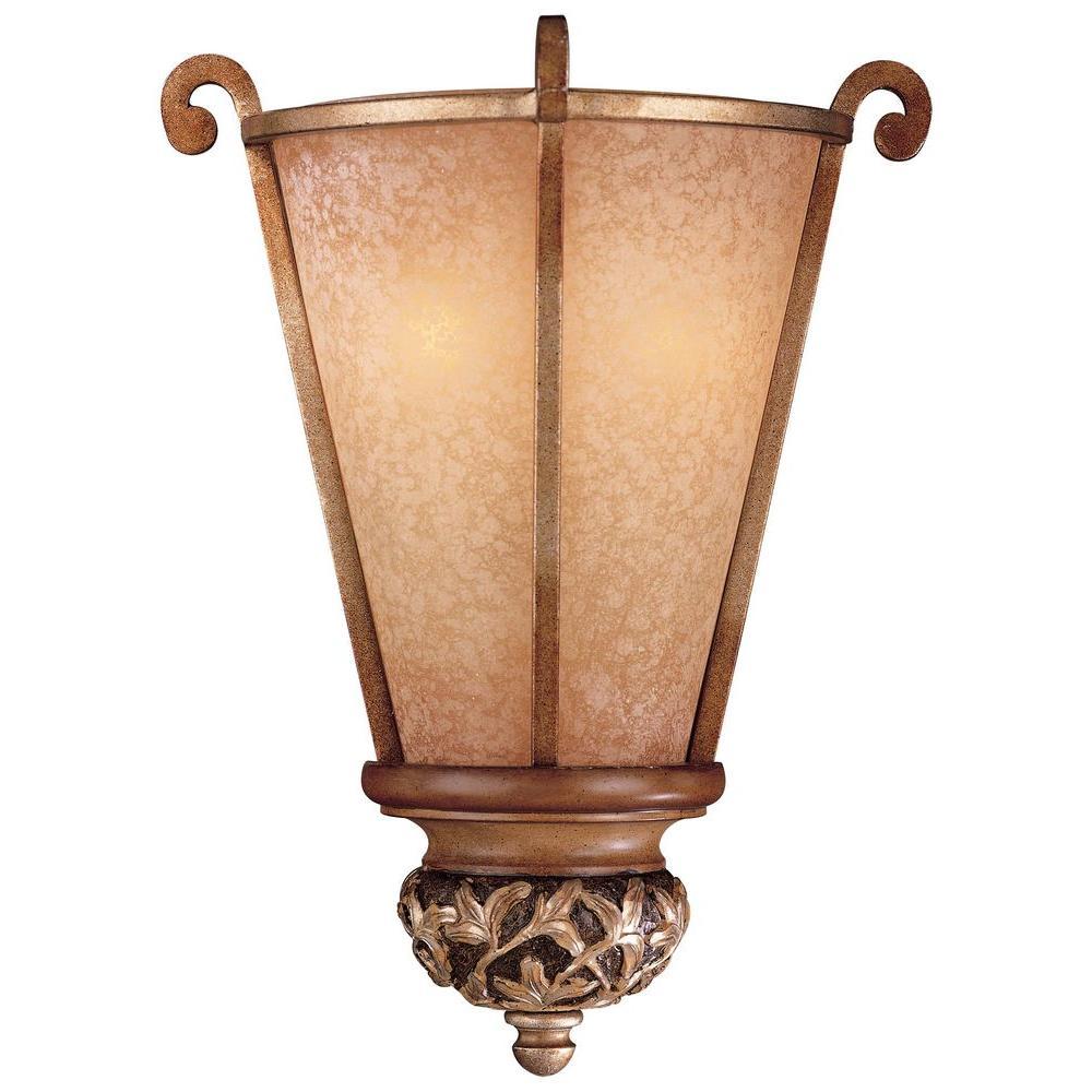 Minka Lavery Salon Grand 2 Light Florence Patina Sconce 1570 477