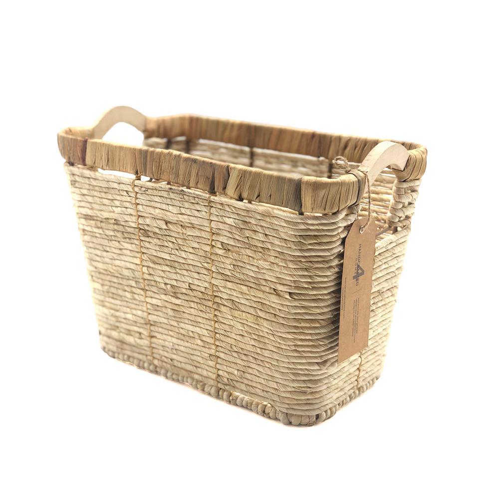 8 in. D x 13 in. W x 9.25 in. H Waste/Magazine Wicker Baskets (Set of 2)