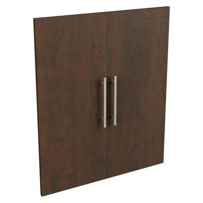Style+ 0.63 in. D x 24.65 in. W x 30.12 in. H Chocolate Modern Wood Closet System Door Kit