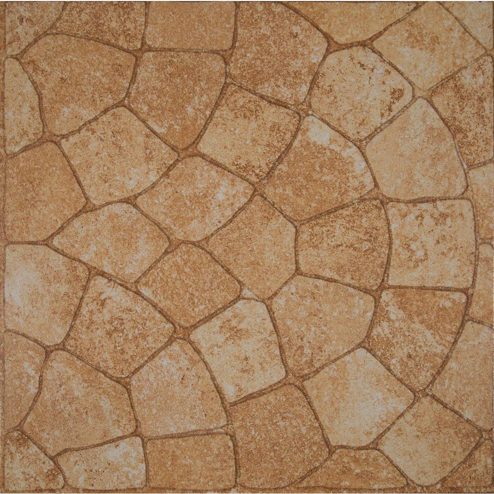 Msi Red Cobblestone 18 In X 18 In Glazed Ceramic Floor And Wall
