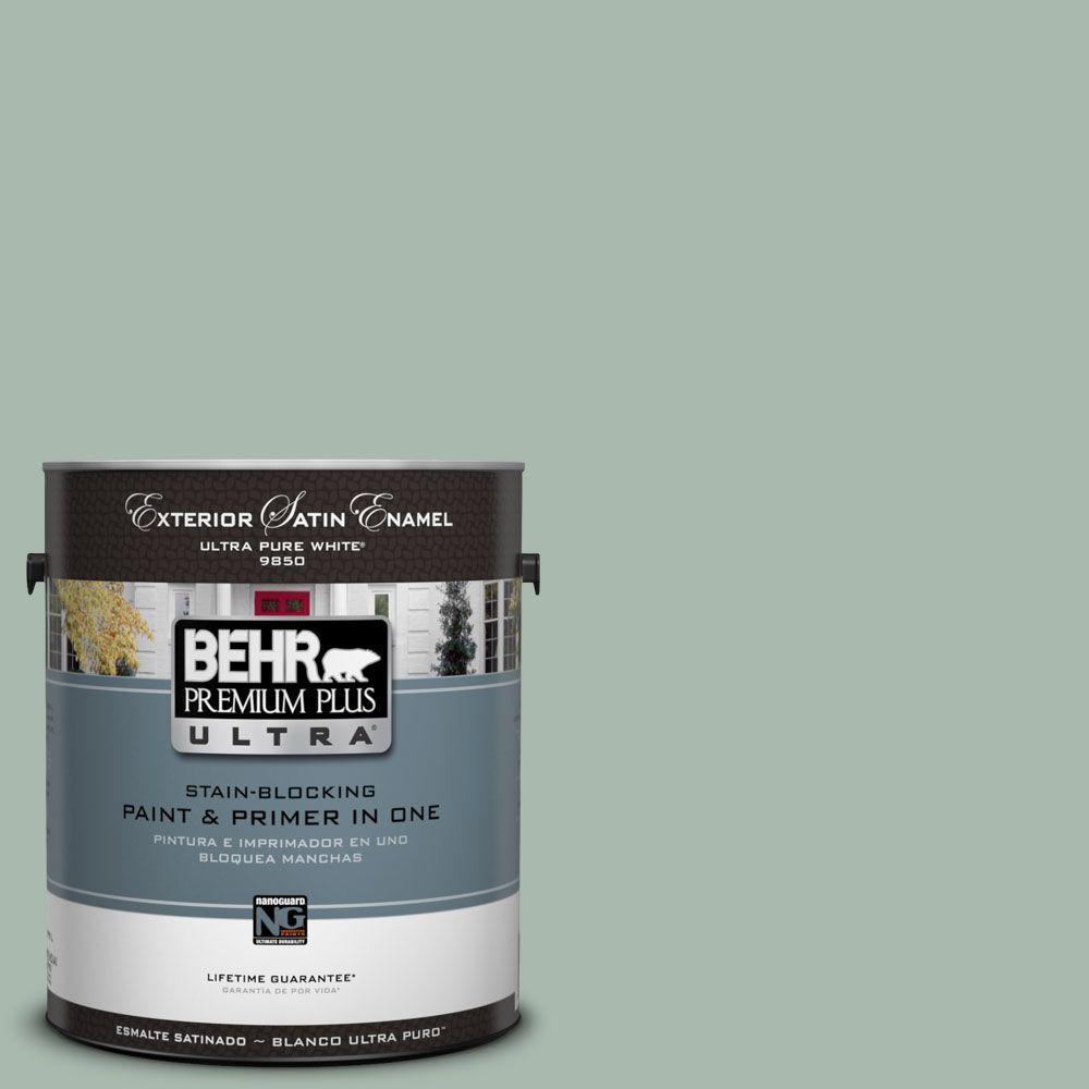 BEHR Premium Plus Ultra 1-Gal. #UL220-14 Zen Satin Enamel Exterior Paint