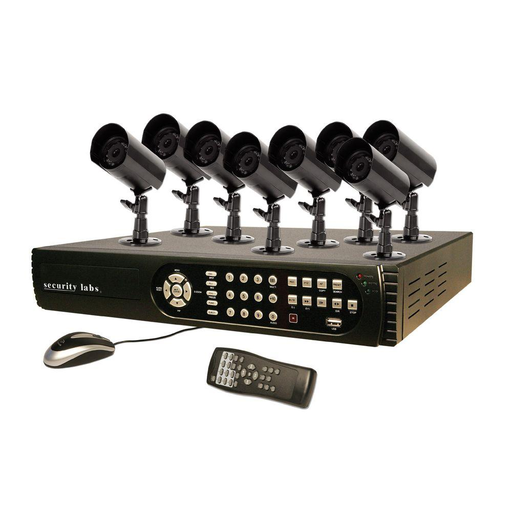 Security Labs 8 CH 500 GB Hard Drive Surveillance System with (8) 420 TVL Cameras-DISCONTINUED