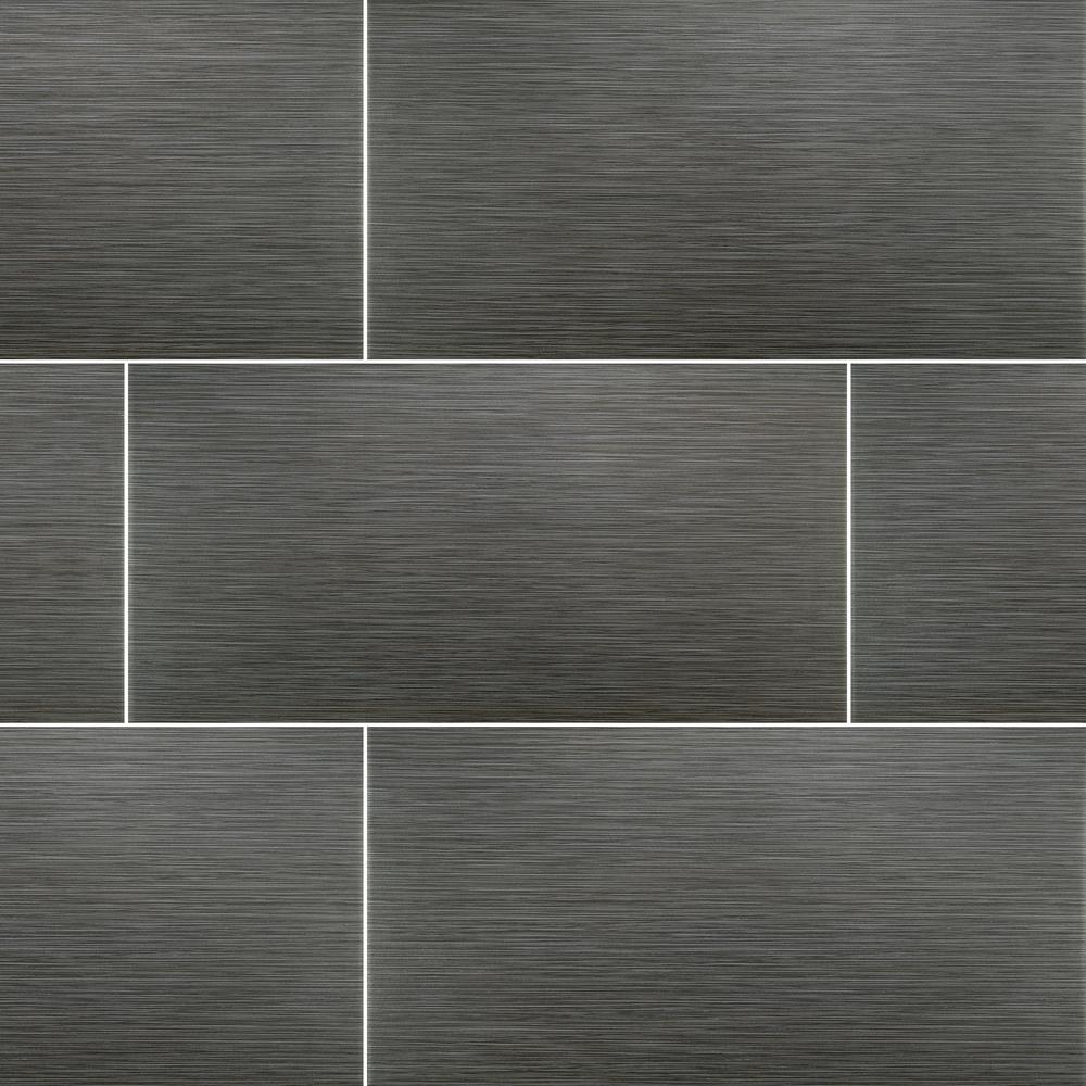 Msi Metro Gris 10 In X 20 In Glossy Ceramic Wall Tile 1 38 Sq Ft Nhdmetgri10x20 The Home Depot