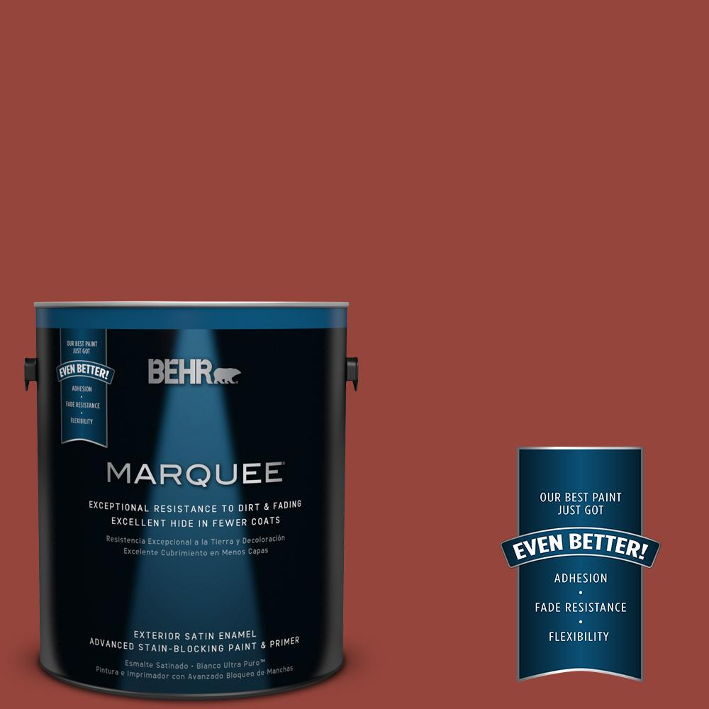 BEHR MARQUEE 1-gal. #PPU2-17 Morocco Red Satin Enamel Exterior Paint