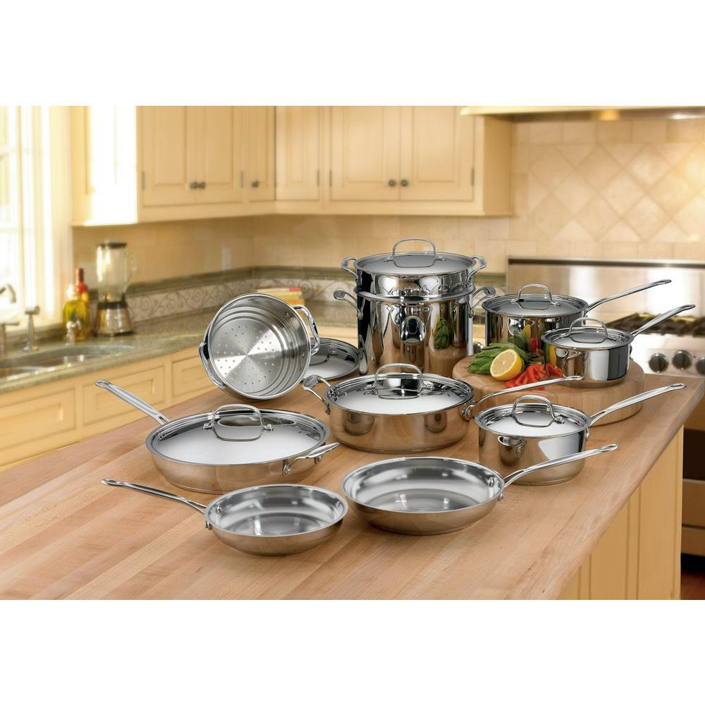 Cuisinart Chef's Classic 17-Piece Cookware Set in Stainless