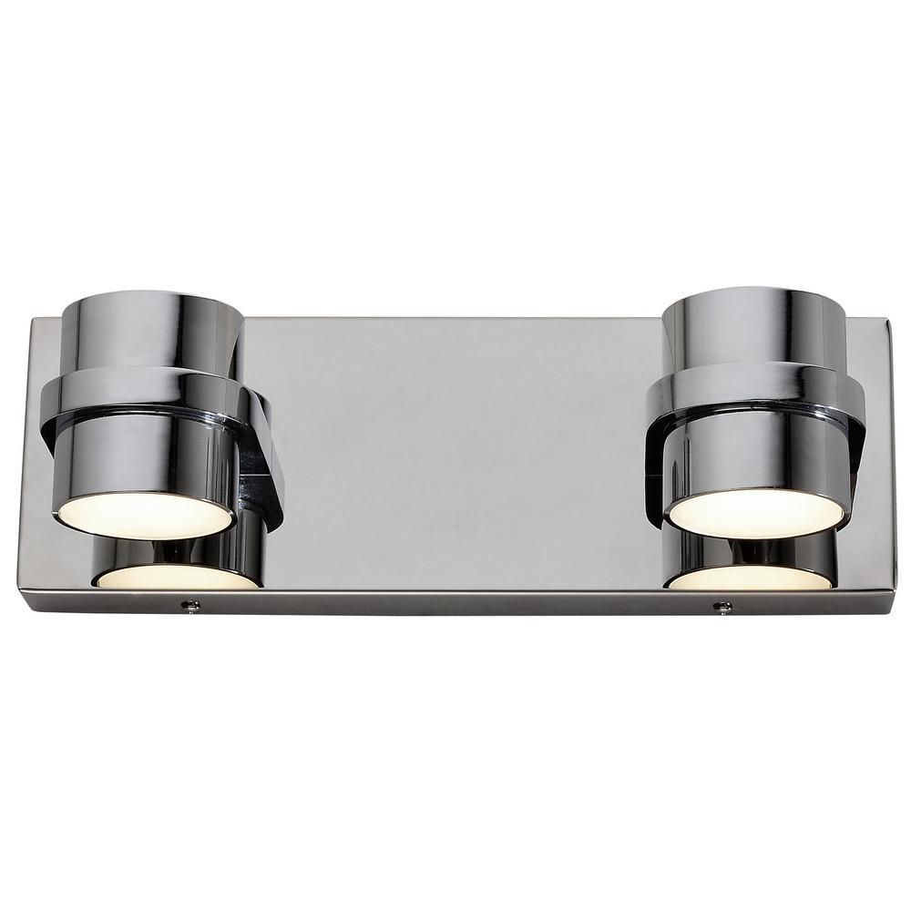 Rogue Decor Twocan 100-Watt Polished Chrome Integrated LED Bath Light