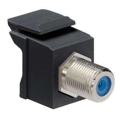 QuickPort F-Type Nickel-Plated Connector, Black
