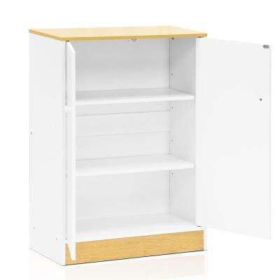 Manya White 2-Door Storage Cabinet