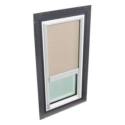 22-1/2 in. x 46-1/2 in. Fixed Self Flashed Skylight w/ Tempered Low-E3 Glass & Classic Sand Manual Light Filtering Blind