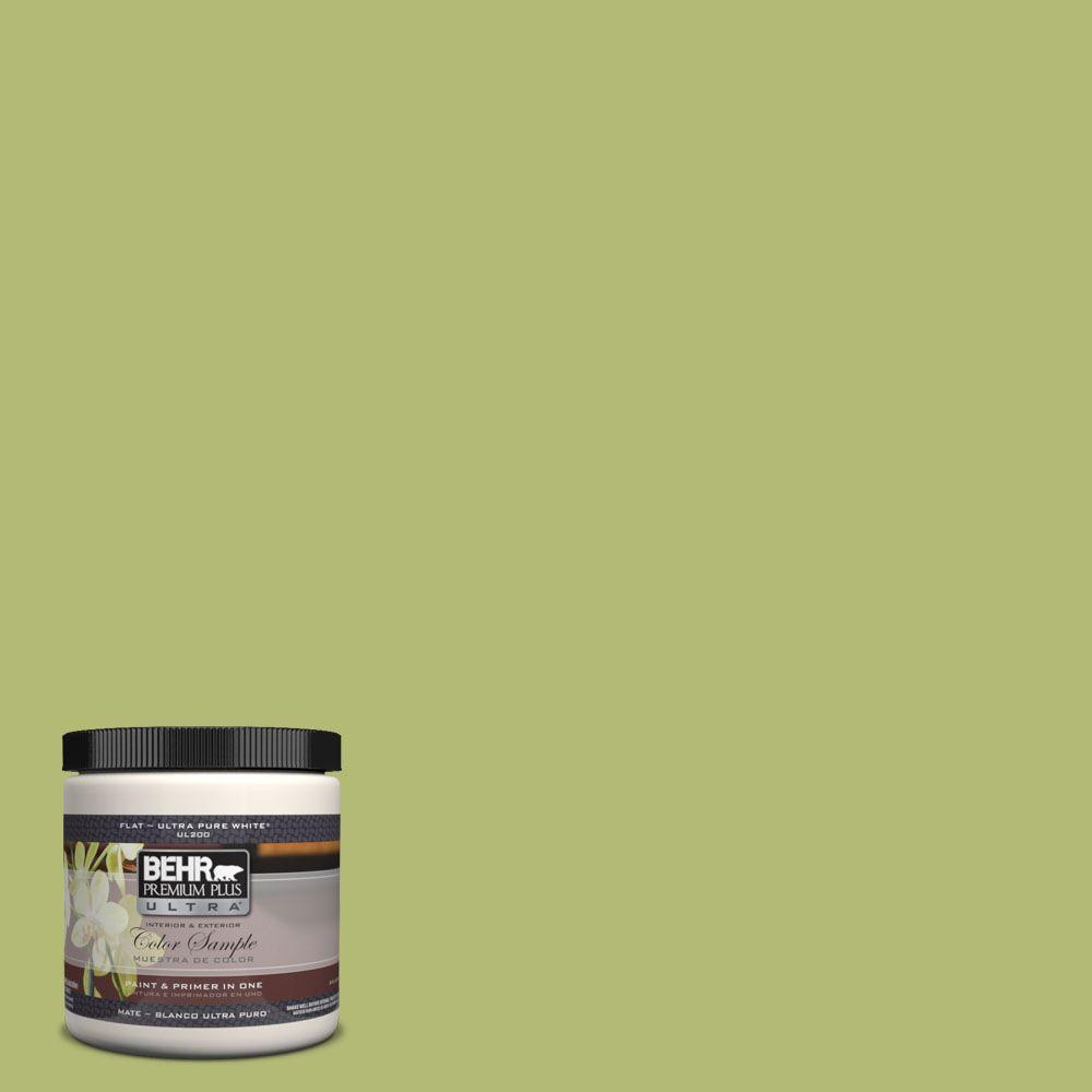 8 oz. #410D-4 Asparagus Matte Interior/Exterior Paint and Primer in One