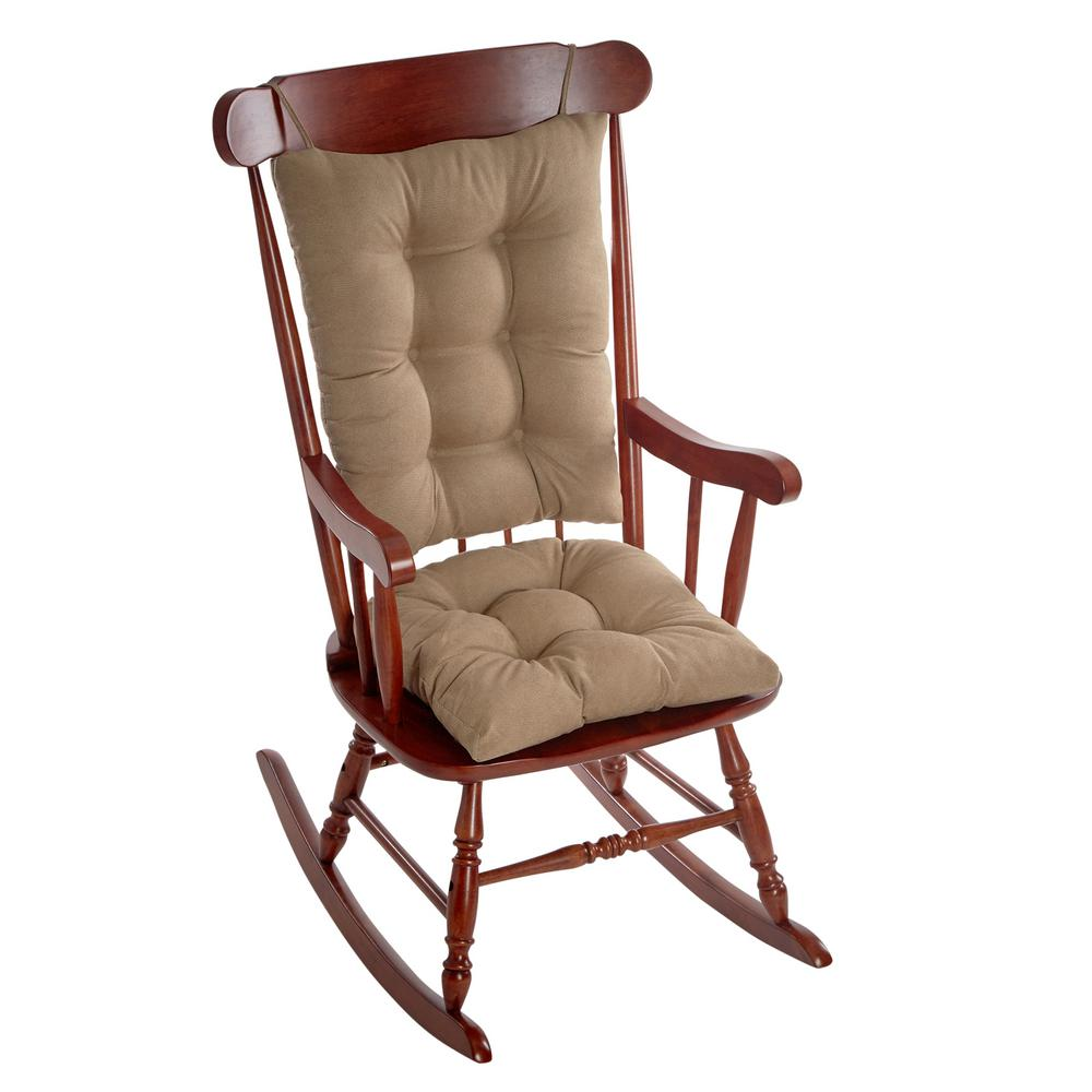 Incroyable Klear Vu Gripper Twillo Bronze Jumbo Rocking Chair Cushion Set