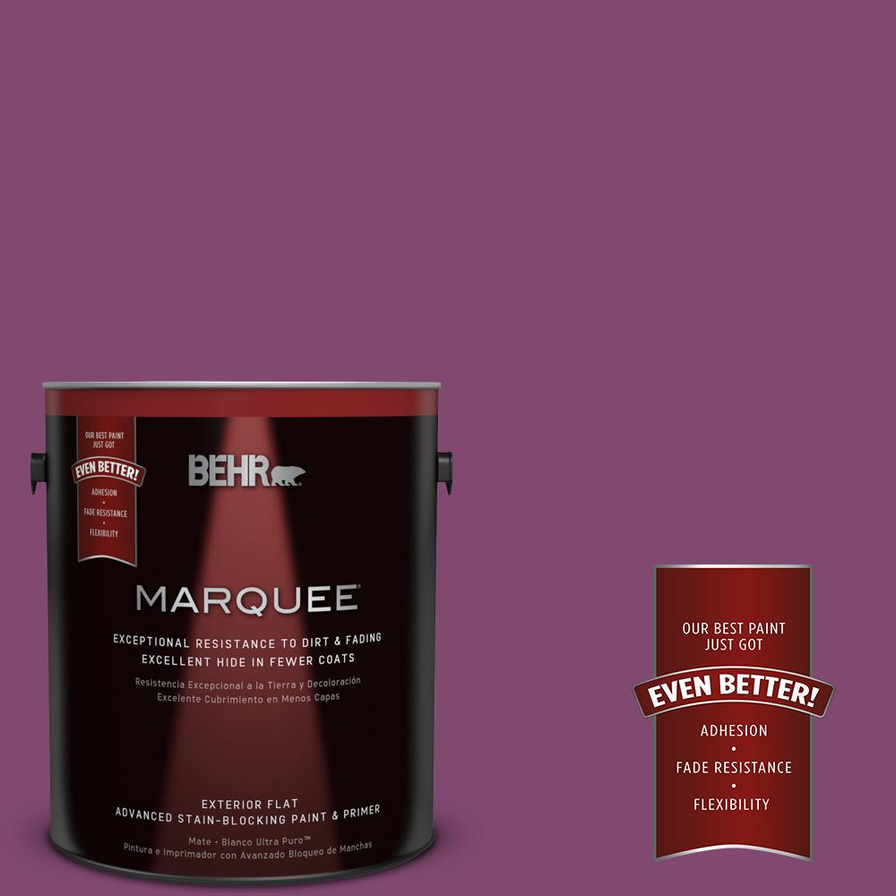 BEHR MARQUEE 1-gal. #680B-7 Sugar Plum Flat Exterior Paint-445301 ...